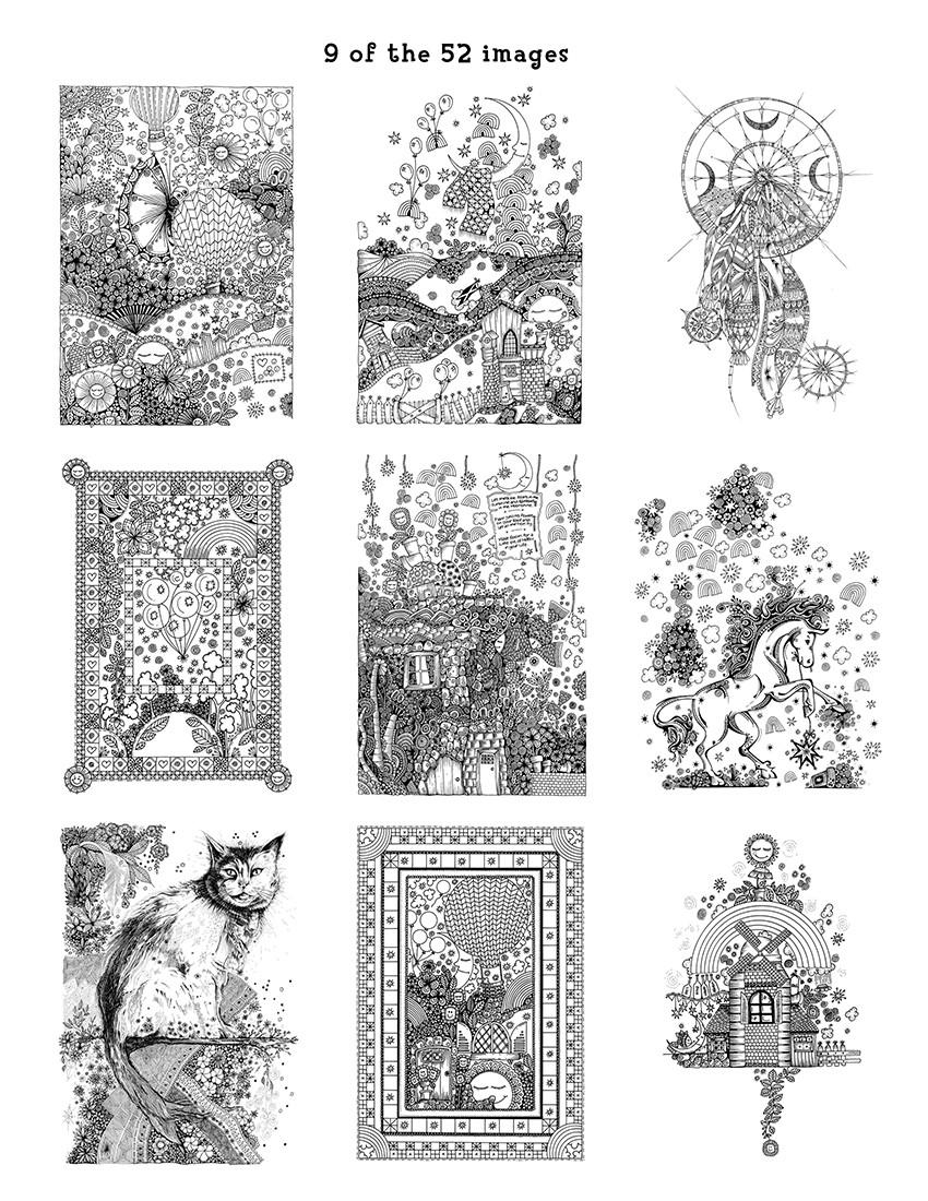 Ann\'s Doodles: A Kaleidoscopia Coloring Book: The Magical World of