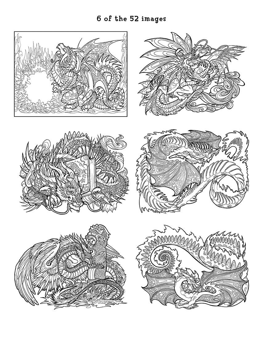 More Views Dragon Adventure A Kaleidoscopia Coloring Book