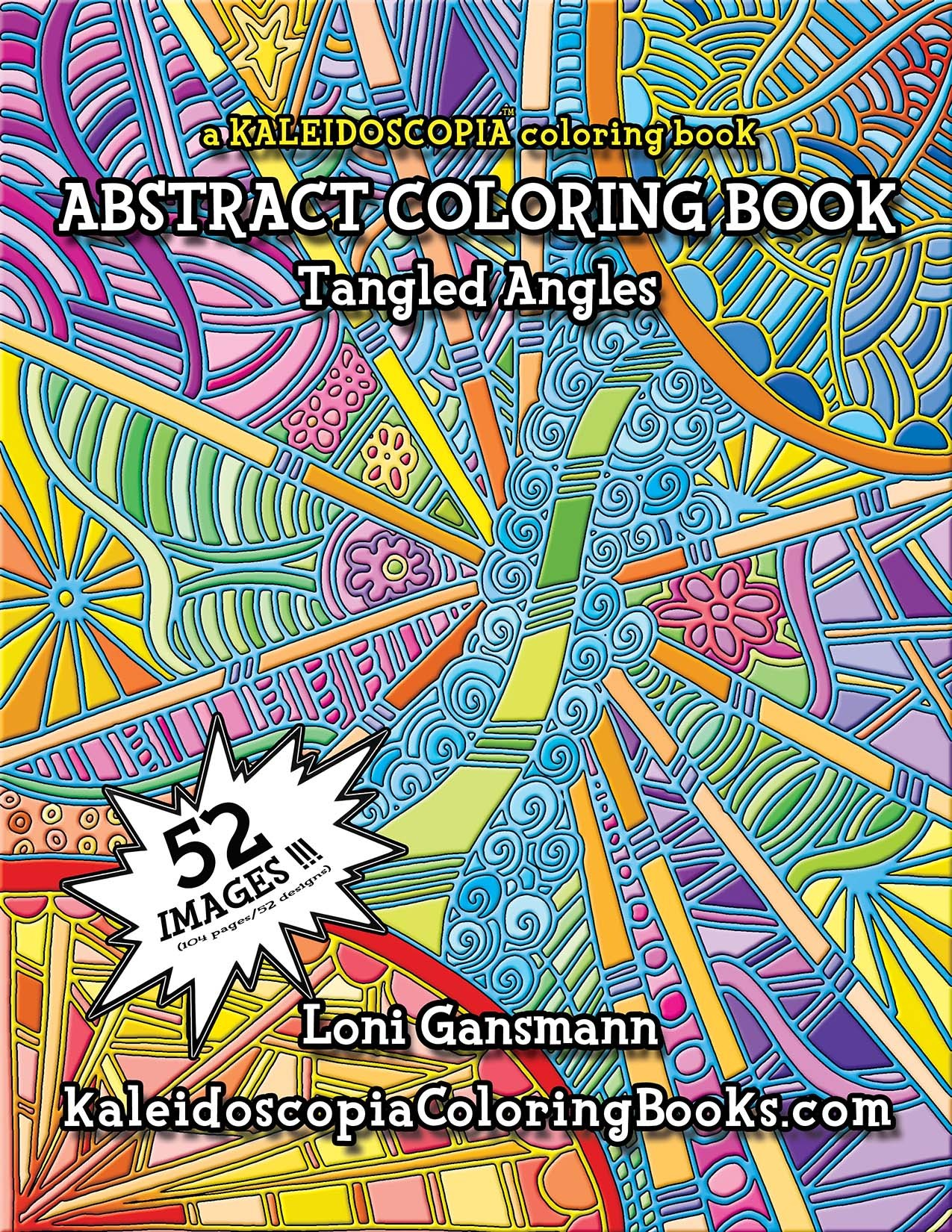 tangled angles an abstract coloring book - Abstract Coloring Books