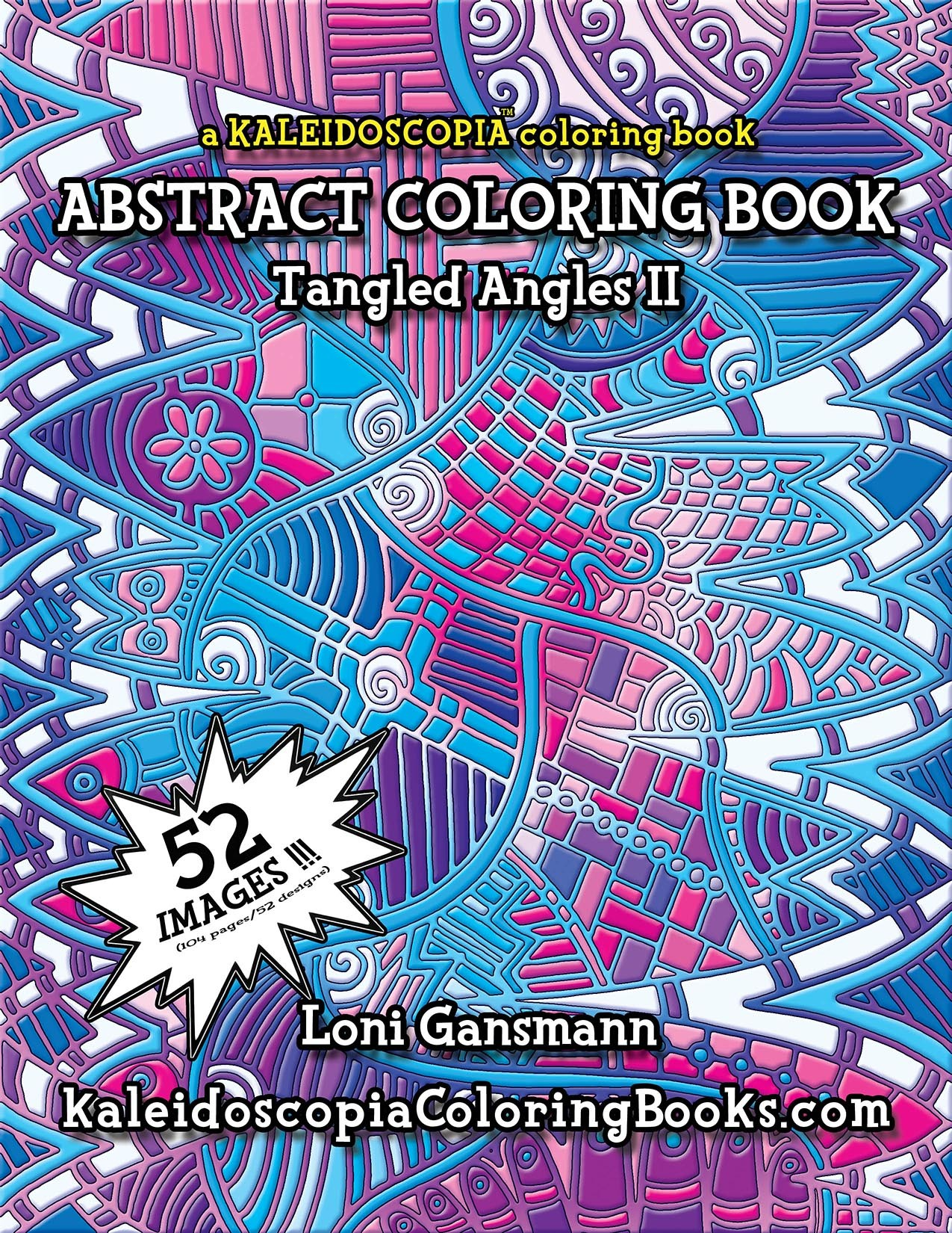 tangled angles 2 an abstract coloring book - Abstract Coloring Books