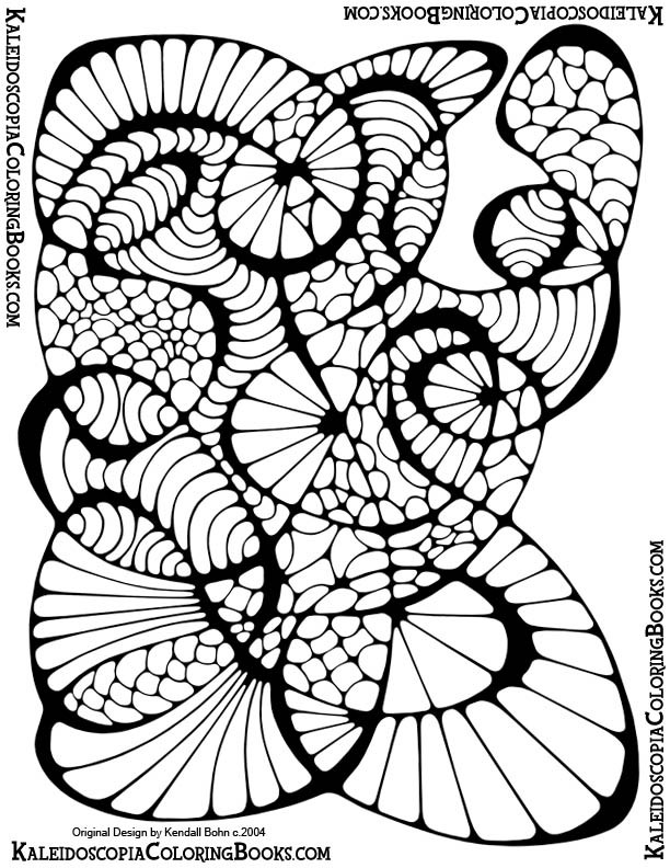 Free coloring page abstract adventure ii