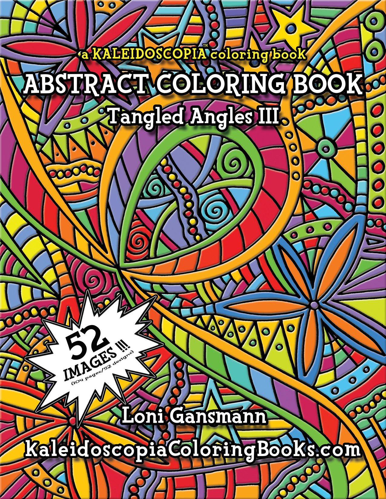 tangled angles 3 an abstract coloring book - Abstract Coloring Books