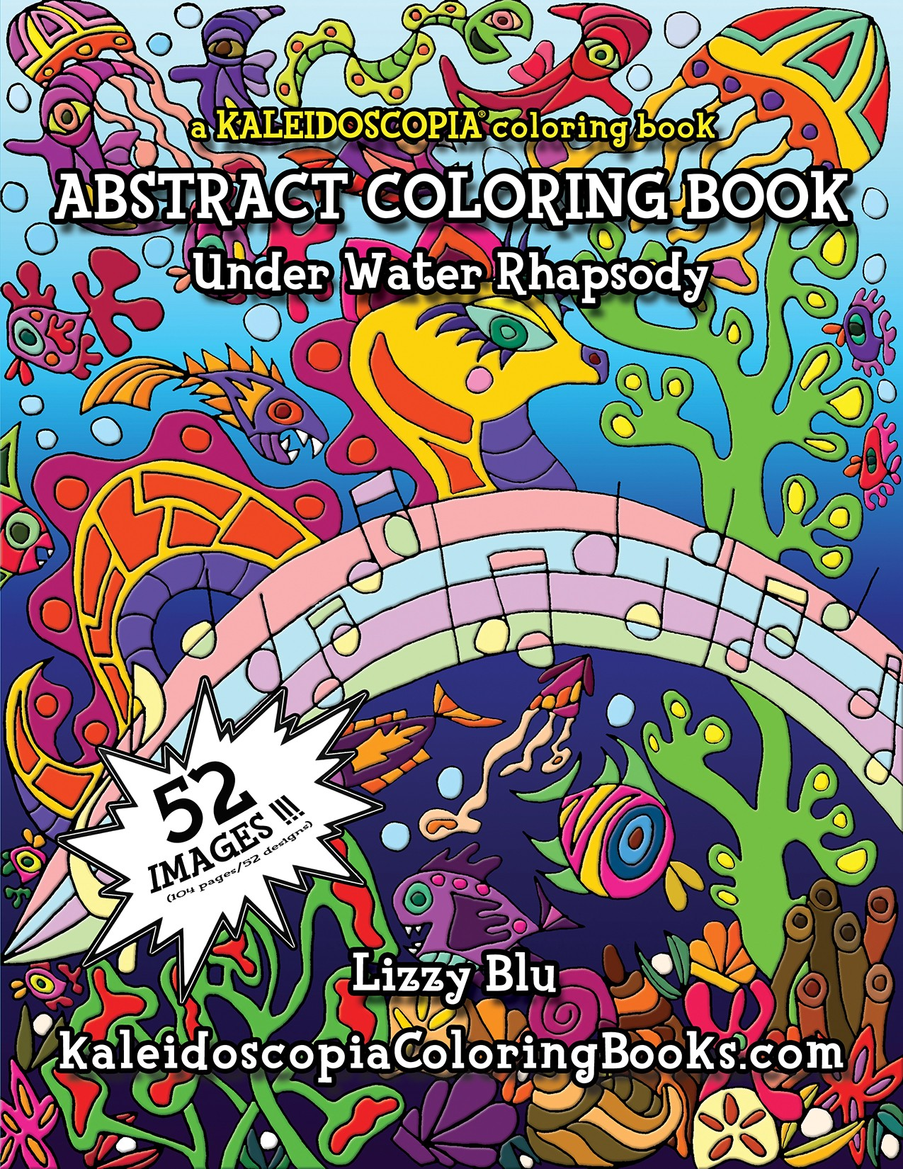 underwater rhapsody an abstract coloring book - Abstract Coloring Books