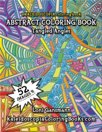 Tangled Angles: An Abstract Coloring Book