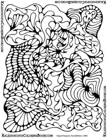 Free Coloring Page: Abstract Adventure III