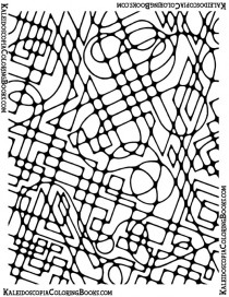 Free Coloring Page: Abstract Adventure V
