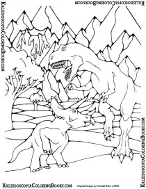 Free Coloring Page: Prehistoric Adventure
